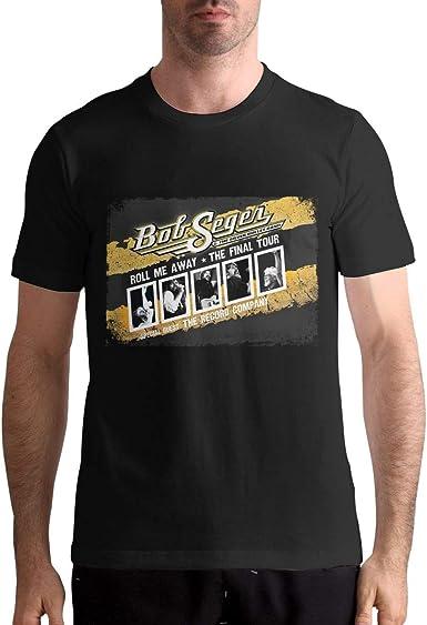 EVE KENNEDY Fashion Bob Seger Man T-Shirts Top Tees Short Sleeve Black Shirts