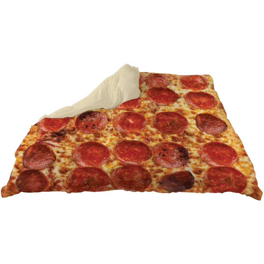 Pepperoni Pizza Duvet Bed Cover - Queen Size