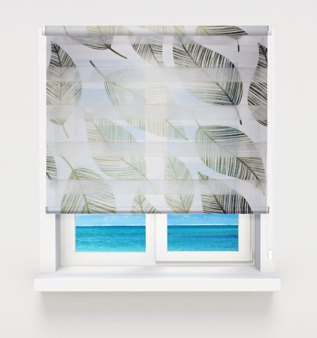 Blanc 110 x 150 cm Khome Andorra Store Double avec syst/ème Klemmfix sans per/çage Blanc