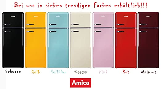 Amica Kühlschrank Zu Kalt : Amica retro kühl gefrierkombination rot kgc r a liter