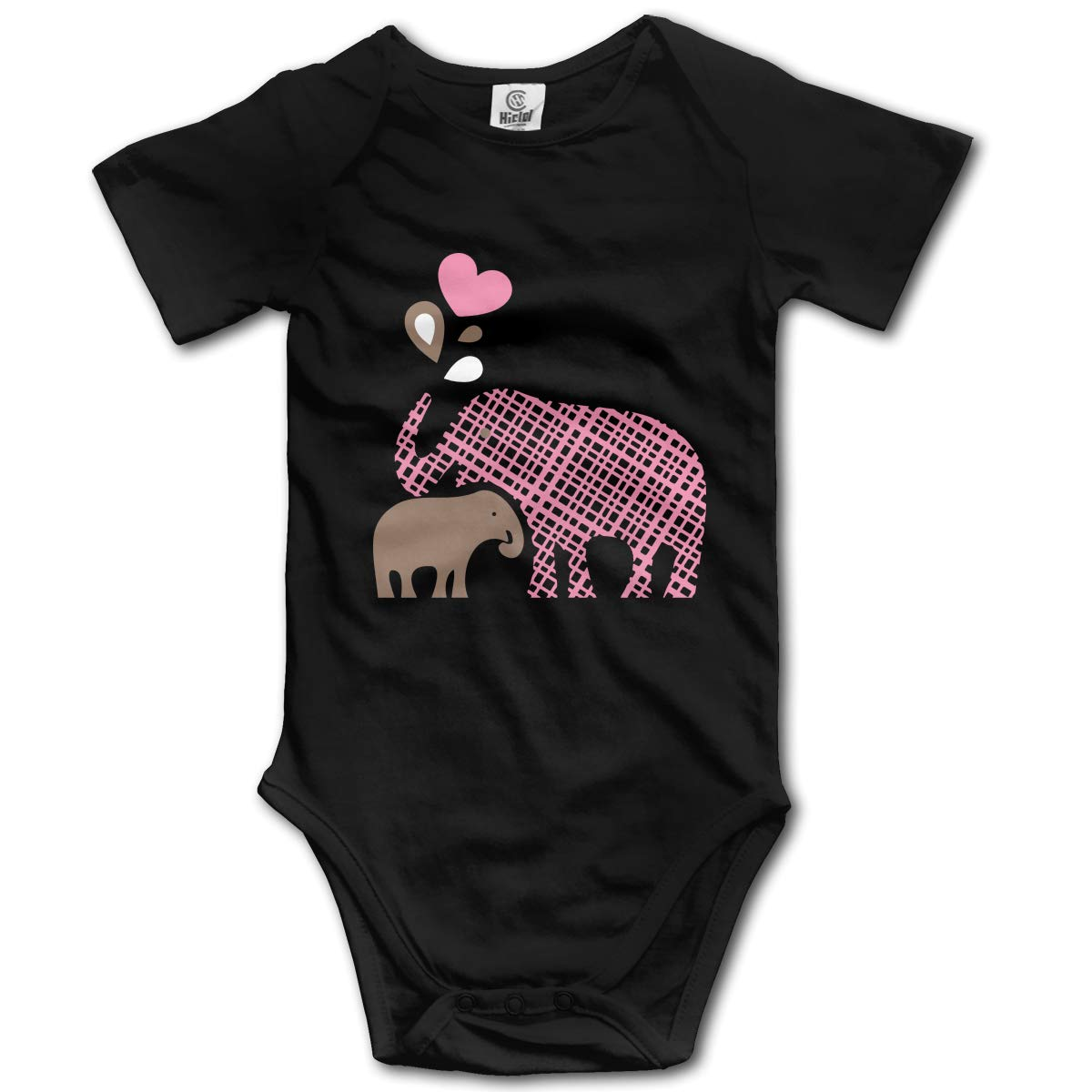 Mama and Baby Elephant Clipart Baby Unisex 100/% Organic Cotton Rompers Costume Jumpsuit 0-24M