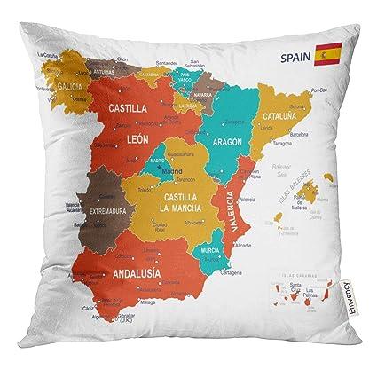 Amazon.com: UPOOS Throw Pillow Cover Blue Government of ...