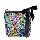Yuxing Girls Fashion Colorful Sequins Crossbody Shoulder Bag (Multicolor)