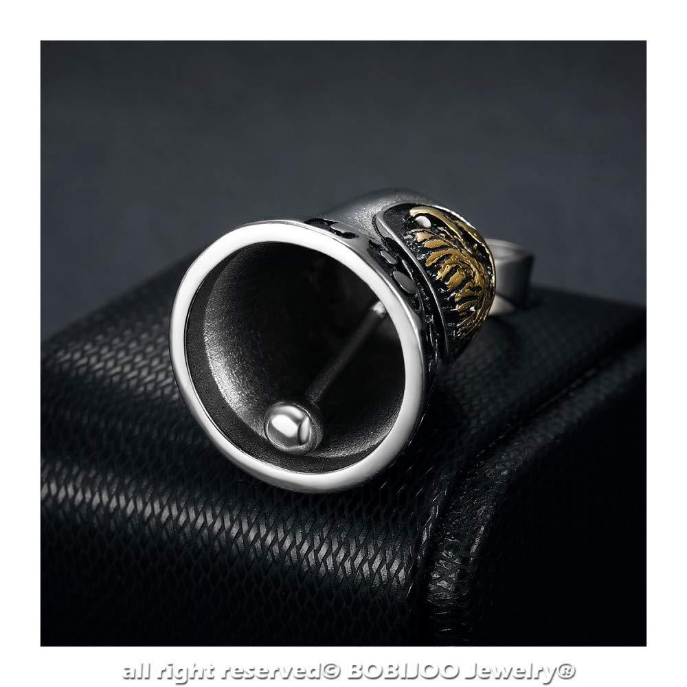 Bell amuletos de la suerte Protecci/ón del Motorista de la Motocicleta de Acero de Oro la Cabeza de un /Águila Ciclista Triker BOBIJOO Jewelry
