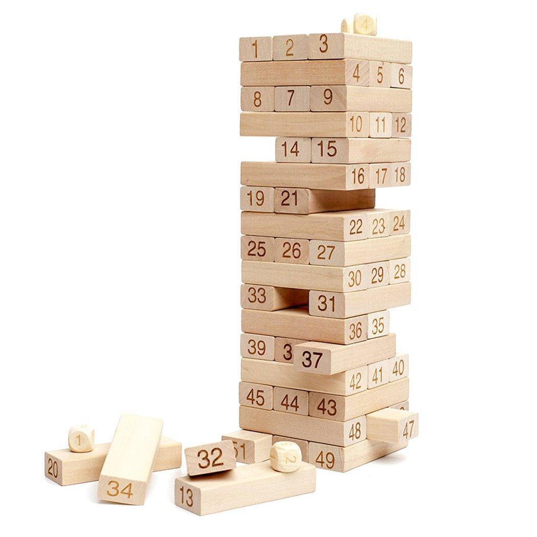 海外並行輸入正規品 54ピースタンブルタワー木製Building Blocks Stacking Stacking B01MXL5WMN Game Blocks B01MXL5WMN, ゼロクールシステム:39b48a00 --- dou13magadan.ru