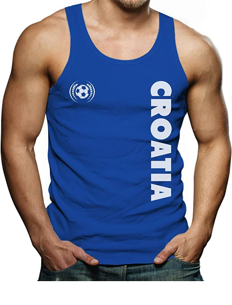 TeeStars - Croatia National Football Team Soccer Fans Singlet GhPhtM0gd