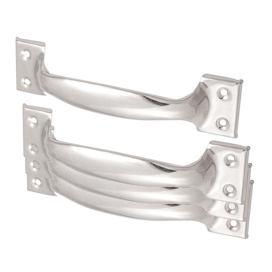 R Door Handles 4 Pcs Silver Tone Arched Cabinet Door Pull Handles 6 Length SODIAL