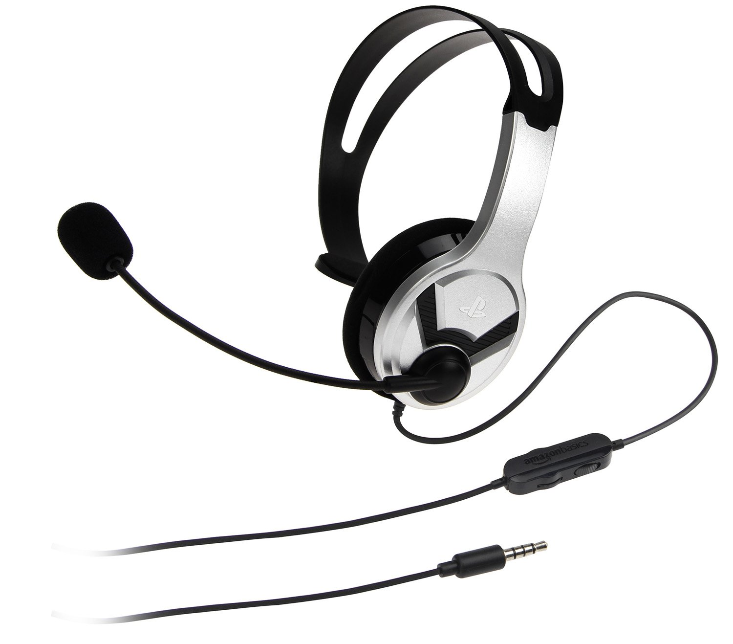 AmazonBasics Chat Headset for PlayStation 4 (Officially Licensed)  - Silver by AmazonBasics