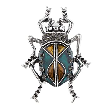 Vintage Crystal Bug Pin De Solapa Insignia Broche De Insectos Pin ...