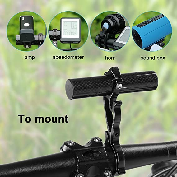 Tbest Soporte de Extensi/ón de Manillar de Ciclismo de Bicicleta Extensor de Manillar Bicicleta MTB Bici Aleaci/ón de Aluminio para GPS L/ámpara//Unidades//Faros//C/ámaras