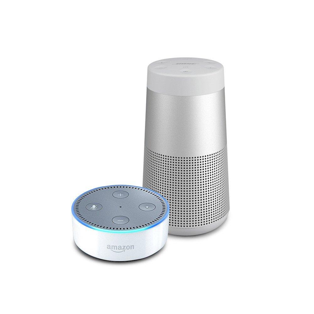 Echo Dot (2nd Gen) - White Plus Bose SoundLink