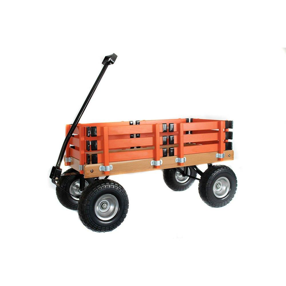 Berlin Amish-Made Sport Wagon Ride On, Orange