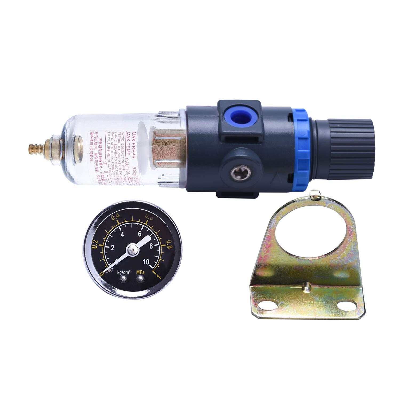 Separador de agua con aire comprimido Reductor de presión para compresor, filtro de 1/4