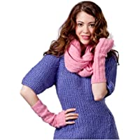 Armstulpen kuschelig weich, Patti, 40% Wolle, 30% Acryl, 20% Angora, 10% Cashmere, (Pink)