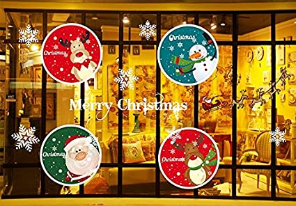 invictus pub can removable christmas tree elk window decoration window film art decal window clings 213quot - Christmas Decorative Window Film