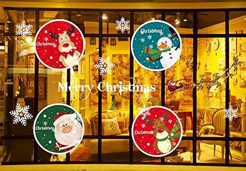 Invictus Pub Can Removable Christmas Tree Elk Window Decoration Window Film Art Decal Window Clings 21.3