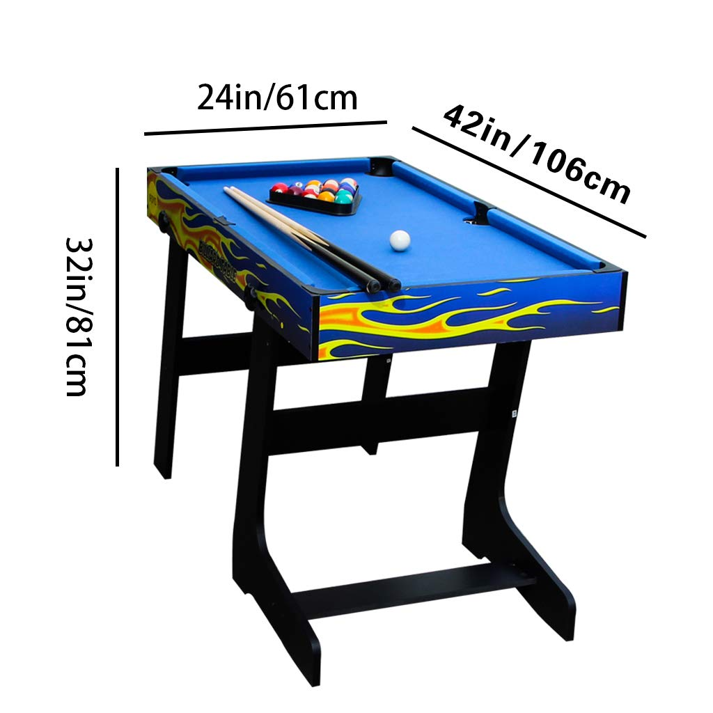 IFOYO Multi-Function 4 in 1 Steady Combo Game Table, Hockey Table, Soccer Foosball Table, Pool Table, Table Tennis Table, Yellow Flame, 48 in / 4 ft, Christams Gift by IFOYO (Image #1)