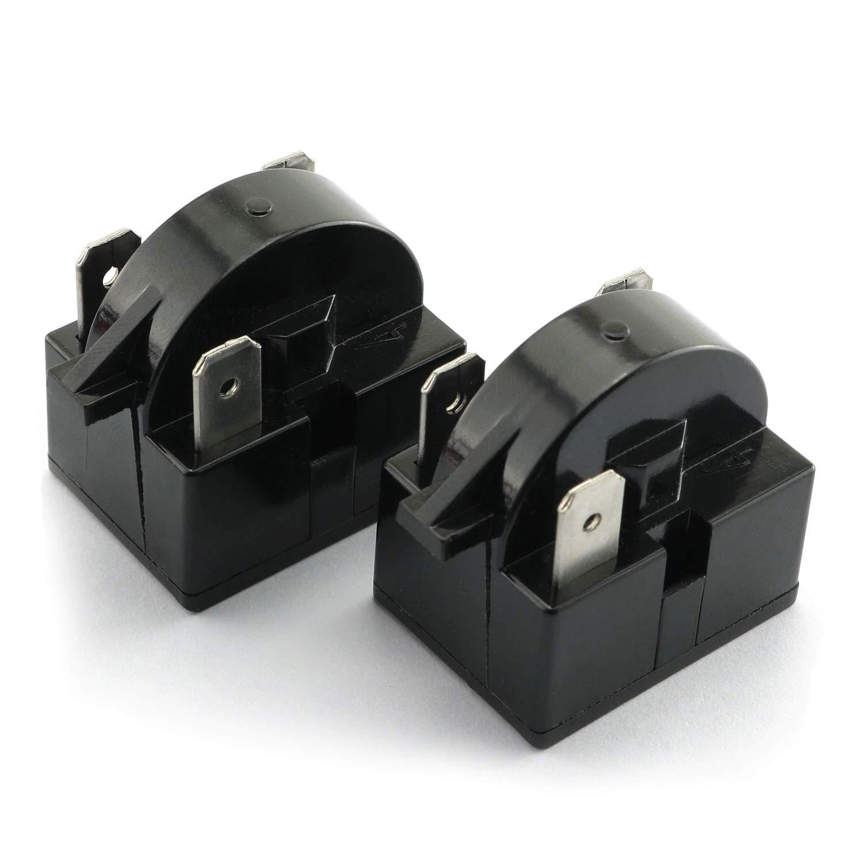 RLECS 2pcs 3 Pin Coolers Compressor Starter QP-02-4.7 PTC Refrigerator Start Relay 4.7 ohm