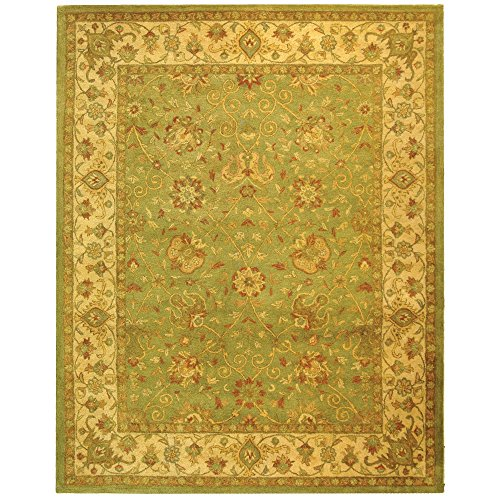 Safavieh Antiquities Collection AT21D Handmade Traditional Oriental Sage Wool Area Rug (6' x 9')