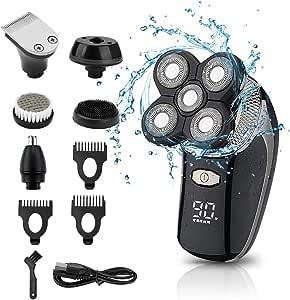 Afeitadora eléctrica 5 EN 1 Impermeable 4D Navaja flotante USB ...