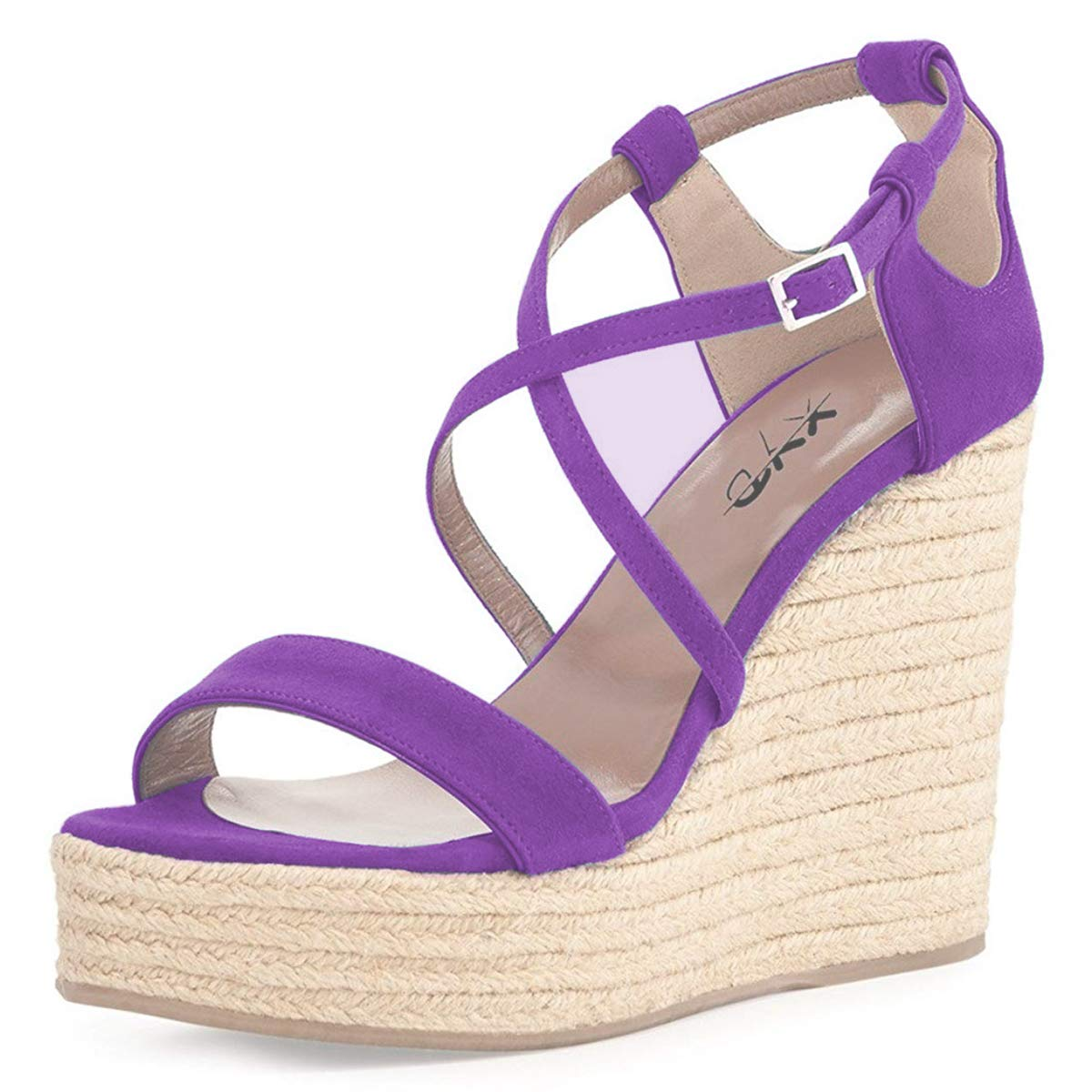 9c18047c6898 Casual summer wedges shoes open toe platform strappy espadrille sandals for  women shoes jpg 1200x1200 Lilac