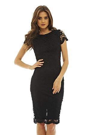 6e6802dd60 Amazon.com  AX Paris Women s Floral Detail Crochet Midi Dress  Clothing