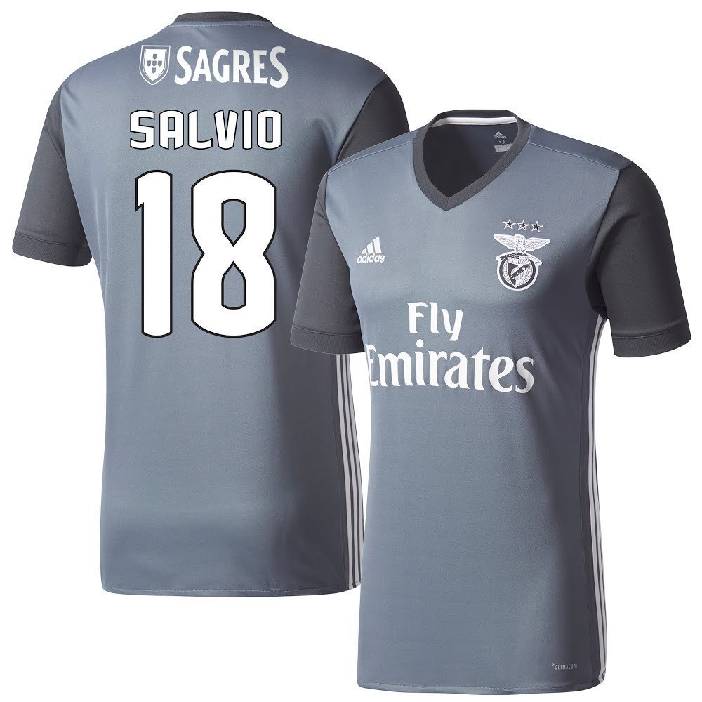 Benfica Away Trikot 2017 2018 + Salvio 18 (Fan Style) - M