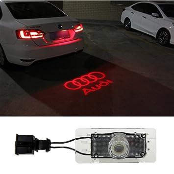COGEEK Car-Styling Audi Logo Car License Plate Lamp Warning Light Dedicated  For Audi A4 A5 A6 A7 SQ5 Q3 Q5 S5 S6 S7 TTS (Audi red)