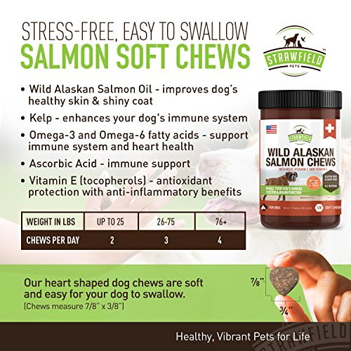 Omega-3-for-Dogs-Wild-Alaskan-Salmon-Oil-Dog-Treats-120-Gluten-Free-Chews-EPA-DHA-Fish-Oil-Supplement-for-Canine-Joint-Health-Support-Dry-Itchy-Skin-Shiny-Healthy-Coat-Strawfield-Pets-USA