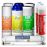 iSpring F10KU 7-Stage Alkaline Mineral Uv Ro System 1-Year Supply Filter Pack Fits RCC7AK-Uv RCC1UP-Ak