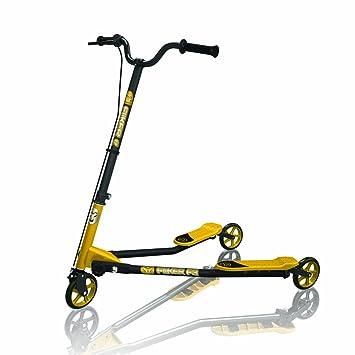 Yvolution y fliker f3 patinete negro/amarillo: Amazon.es ...