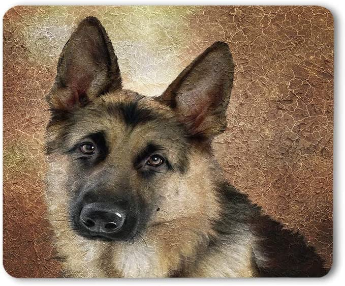 Moslion German Shepherd Mouse Pad Dog Lovely Animal Portrait Adorable Pet Gaming Mouse Mat Non-Slip Rubber Base Thick Mousepad for Laptop Computer PC 9.5x7.9 Inch