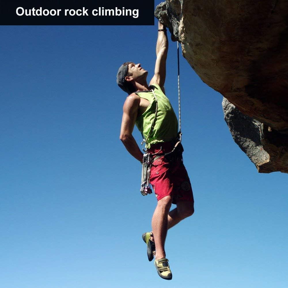 Arnés de Escalada Proteger Pierna Cintura Más Seguro,Arneses de Escalada Cinturones de Seguridad para Mujer y Hombre para Montañismo Alpinismo ...