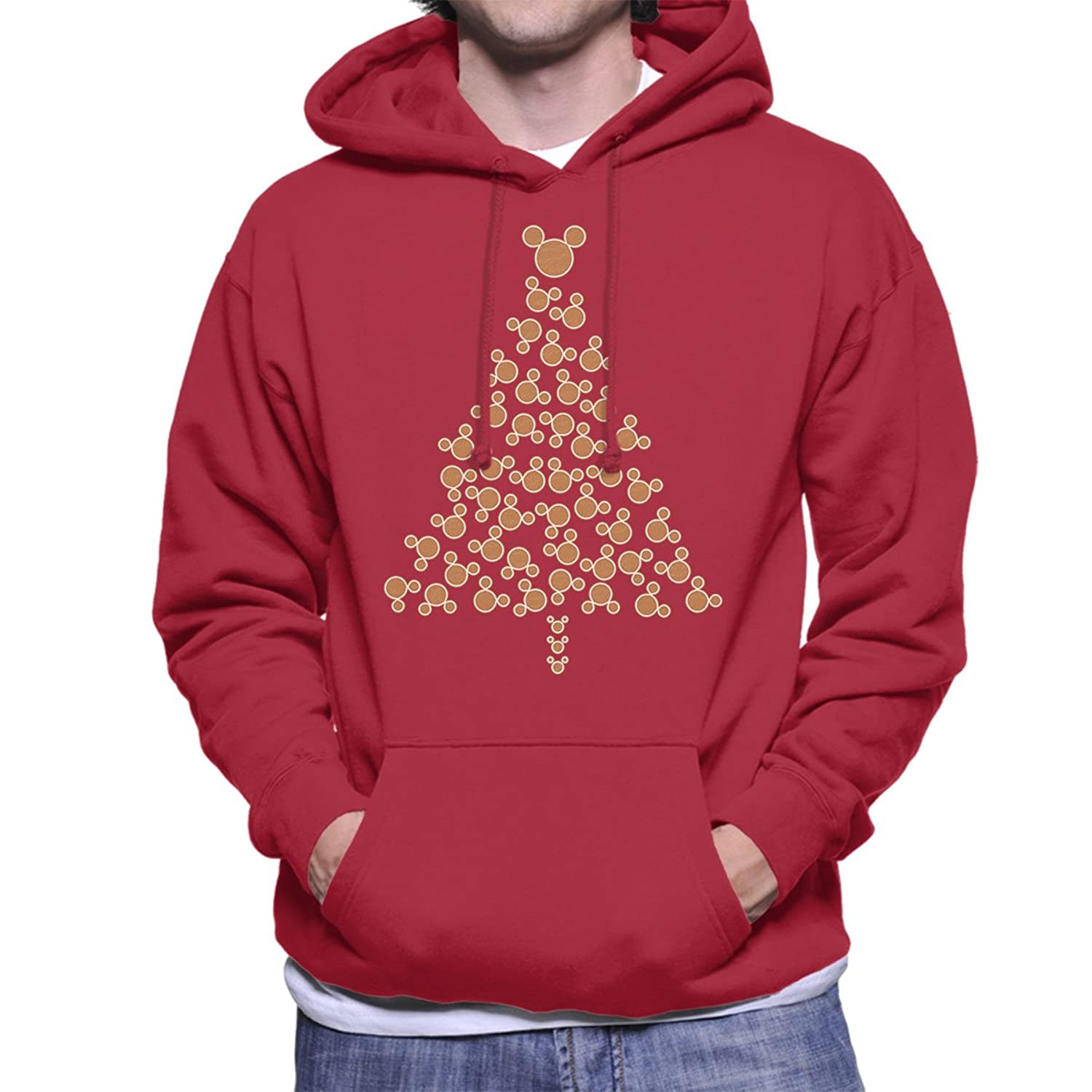 Mickey Mouse Gingerbread Christmas Tree Men's Hooded Sweatshirt
