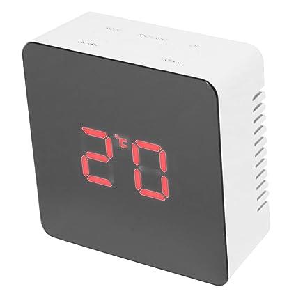 TOOGOO Reloj de Espejo SILENCIOSO multifunción Pantalla Digital Tiempo Luz Nocturna LED Reloj Despertador Snooze Light