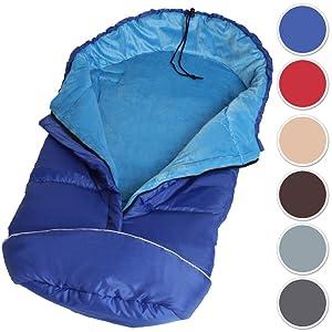 TecTake Saco de invierno dormir térmico para carrito silla de bebé universal abrigo polar - disponible en diferentes colores -