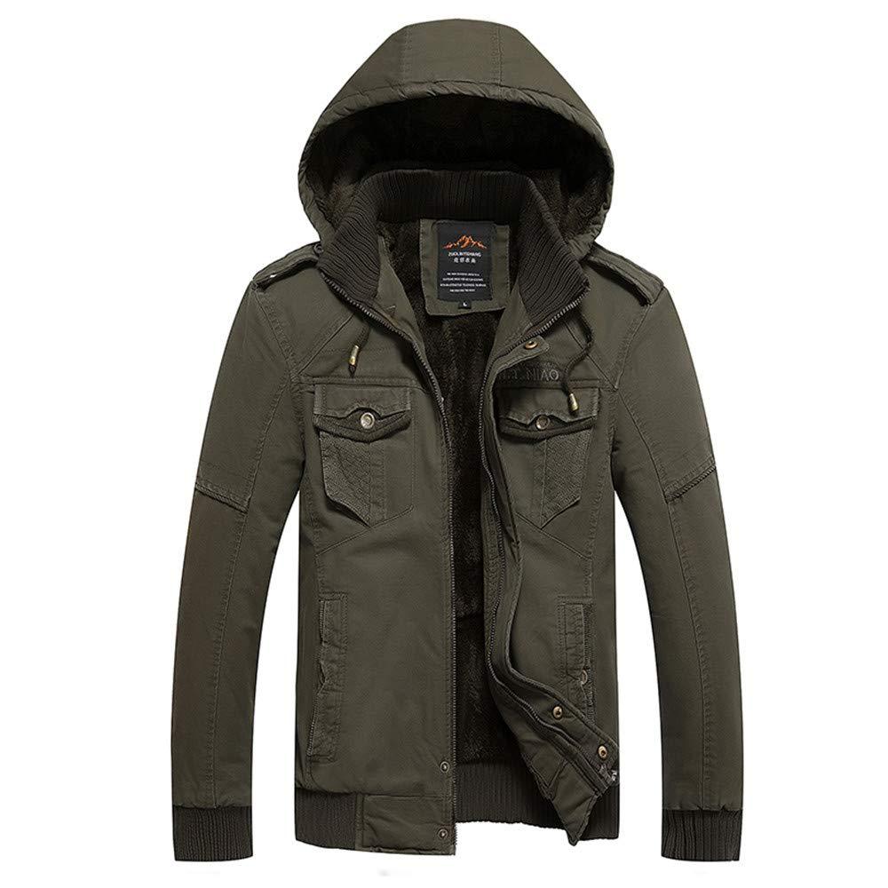 YKARITIANNA Men's 2018 New Solid Down Sports Work Wear Autumn Winter Jacket, Warm Overcoat Outwear Long Trench Zipper for Men by YKARITIANNA Mens Tops