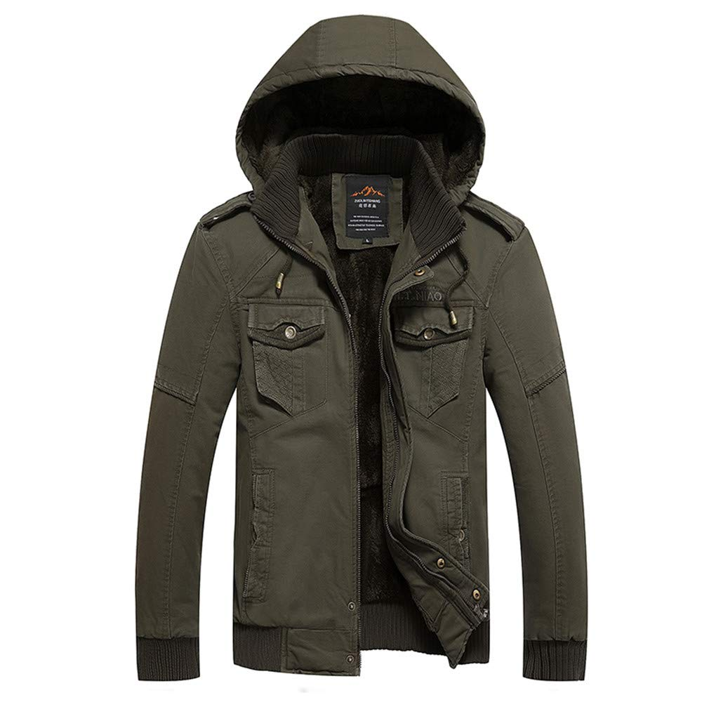 Mens Trench Coat,Mens Winter Jacket Overcoat Outwear Long Trench Caps Coat,Winter Coats for Men