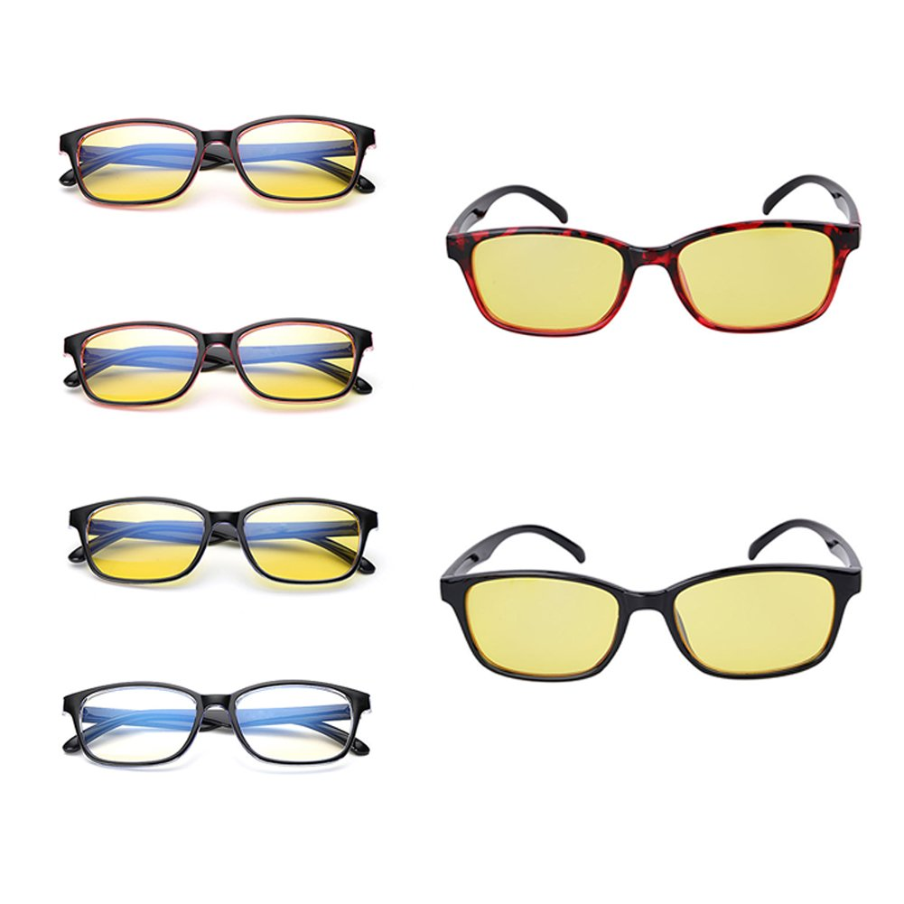 HMOCNV - Gafas de seguridad para ordenador, gafas planas antifatiga de radiación antiniebla, color azul, style 1: Amazon.es: Deportes y aire libre