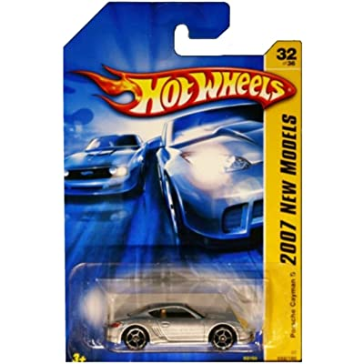 Cayman S Porsche Hot Wheels 2007 New Models Series Silver Porsche Cayman S 1:64 Scale Collectible Die Cast Car No.32: Toys & Games