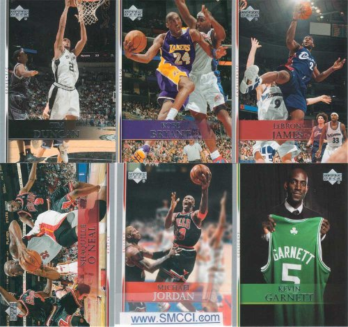 2007 2008 Upper Deck Basketball Series Complete Mint Basic 200 Card Veteran Player Set Including Michael Jordan, Lebron James, Kobe Bryant plus - Michael Jordan Set