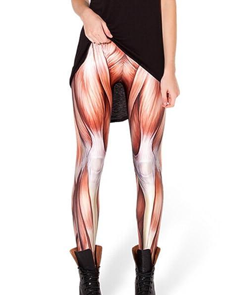 d28b6721427765 Amazon.com: Women Muscle Printed Workout Capri Leggings Pants ...