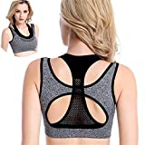 Double Layer No Rims Padded Push Up Racerback Seamless Fitness Yoga Sports Bra