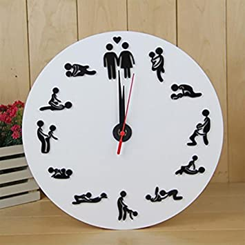 ZUIZU Novelty Wall Clock Wall Clock Creative Clock Bedroom Wall ...