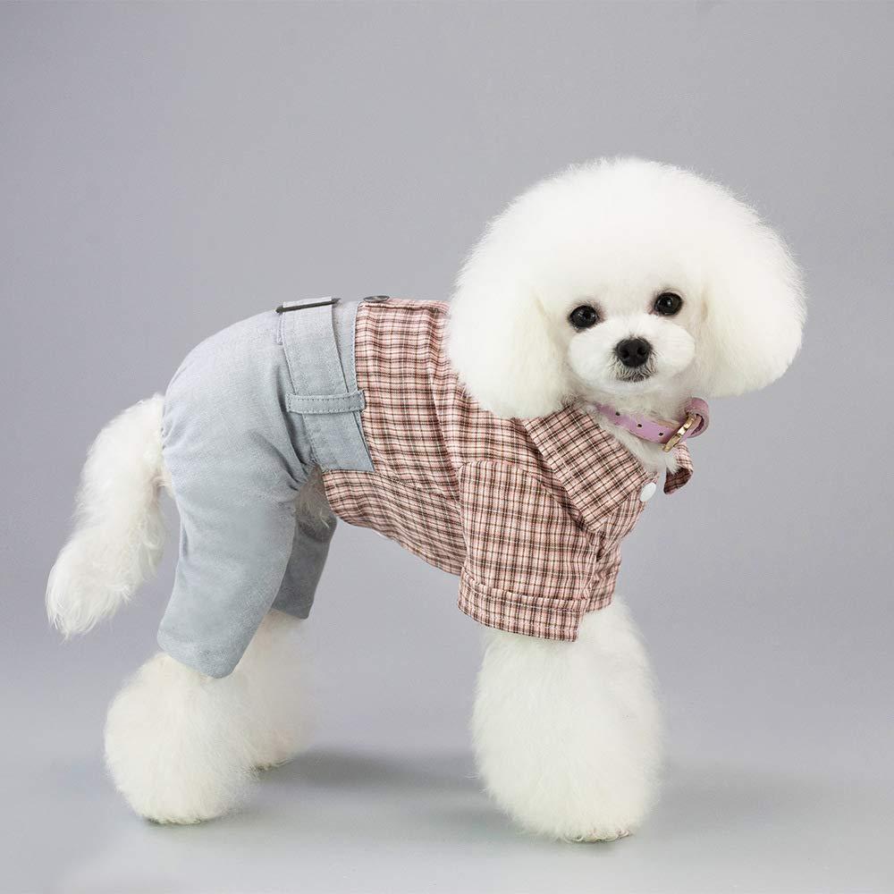 Pink X-Large Pink X-Large Dog Clothes cat Spring Summe, Soft Cotton Puppy Vest Pet Clothes Summer Sweatshirt,Pet Puppy Polo Dog Clothe,4 Legs Pet Clothes,Pink,XL