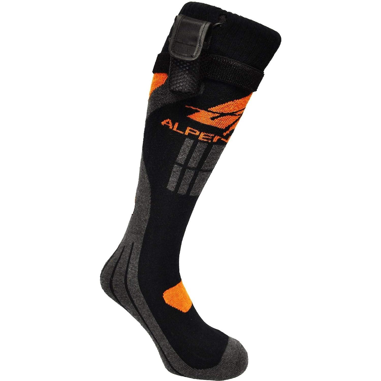 Alpenheat Unisex Beheizbare Socken Fire-Sock Light, Schwarz Orange