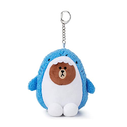 Amazon.com: LINE FRIENDS Key Ring - SHARK BROWN Character ...