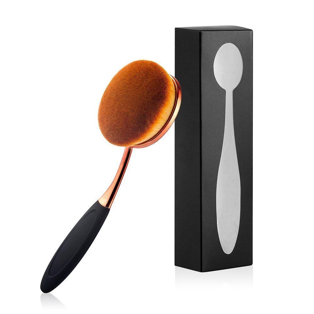 Yoseng Brosse ovale Grande brosse à dents à appliquer pour Makeup-liquid Poudre ou crème.