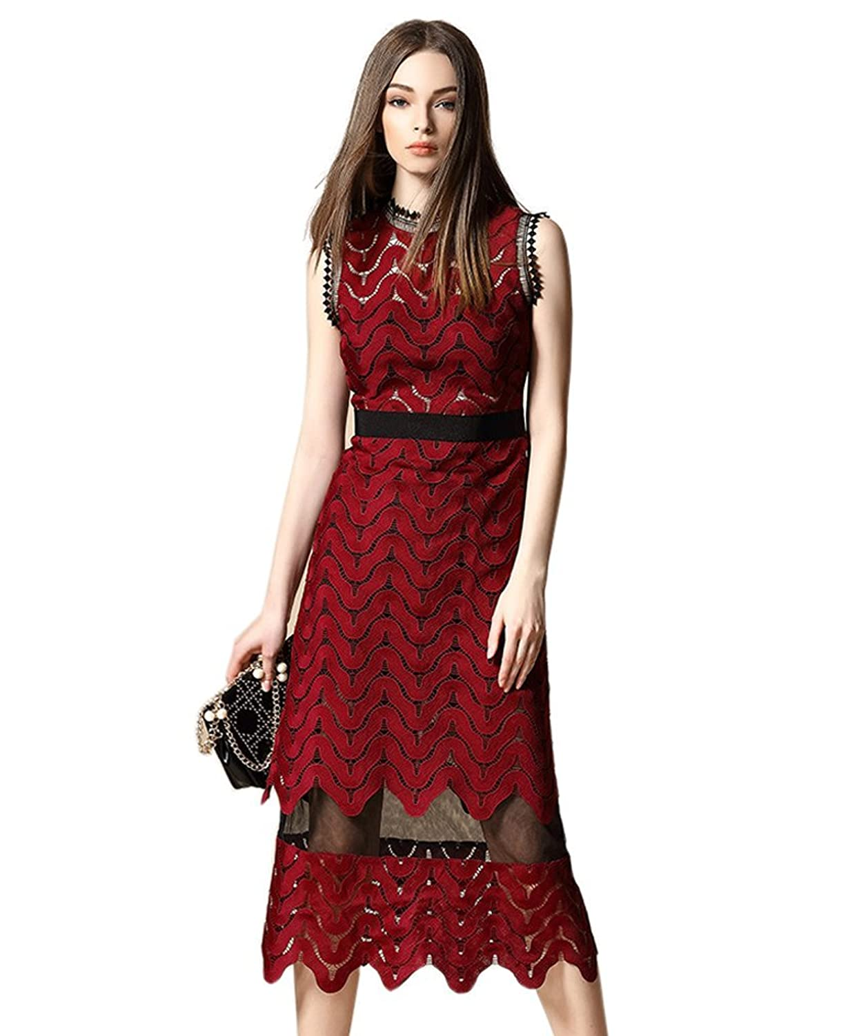 Into your fashion game with amazing party dresses cocktail dresses day - Amazon Com Tuliplazza Women Zigzag Tunic Sheath Cocktail Prom Party Gowns Midi Lace Dress Clothing