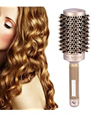 Round Hair Brush, Healthy Salon Hairdressing Curling Hair Style Brushes Ceramic Iron Round Comb for Blow Drying, Styling, Curling, Straightening, Protecting Hair, Increasing Hair Volume & Shine